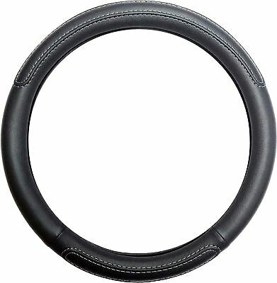 Black Steering Wheel Cover Soft Grip Leather Look for Ssangyong Rexton