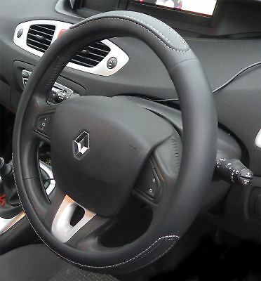 Black Steering Wheel Cover Soft Grip Leather Look for Renault Modus 04-12