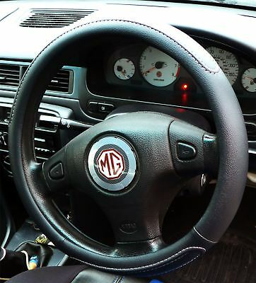 Black Steering Wheel Cover Soft Grip Leather Look for MG TF All Years