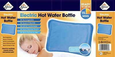 Electric Hot Watter Bottel Rechargeable Soft & Comfortable Ready To Use Uk Plug