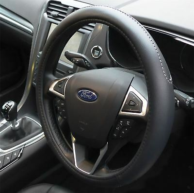 Black Steering Wheel Cover Soft Grip Leather Look for Ford Streetka 03-06