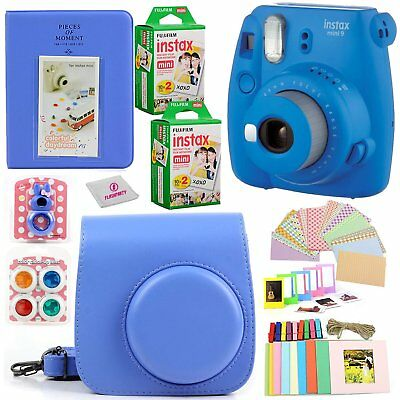 Fujifilm Instax Mini 9 Camera + Instant Film 40 Sheets & lots of Fun Accessories