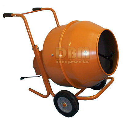 8 CUBIC Ft Horizontal Portable Wheel Barrow Cement Mixer