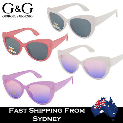 G&G Kids Fashion Colorful Cateye Style Sunglasses Girls Purple Pink Red Pol Ava