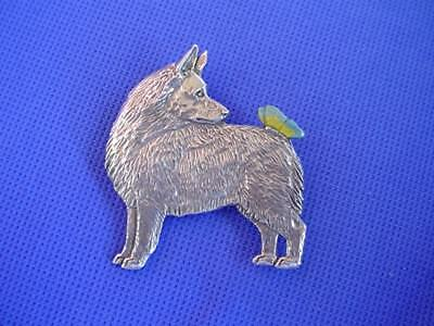 Schipperke Butterfly Pin pewter dog jewelry by Cindy A. Conter non sporting 64B