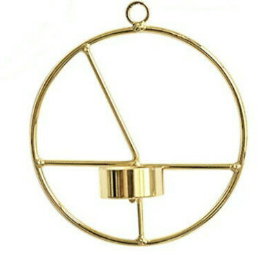 3D Geometric Candle Holder Gold Wall Mounted  Metal Candlestick Light Home Decor