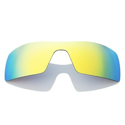 e1d0ee3f69 Golden Polarized Replacement Mirrored Lenses For-Oakley Oil Rig Anti  Saltwater