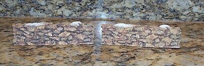 Department 56 Christmas Snow Village Accessory 2 Brownstone Stone Walls 52629