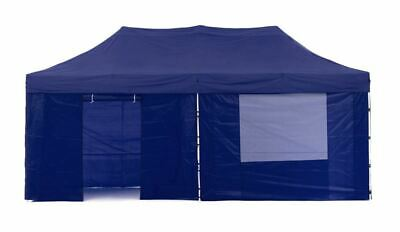 Foldable Tent Pop Up Gazebo Marquee Outdoor Event Party Roof Nylon Walls Blue