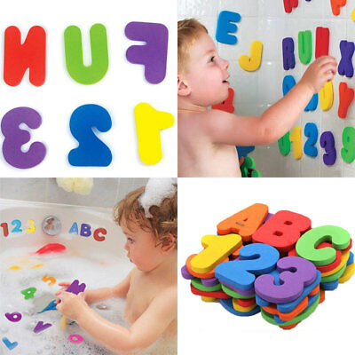 36PCS Letters 10PC Numbers Foam Floating Bathroom Toys For Kids Baby Bath Swim