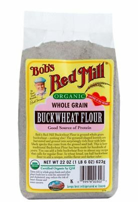 Bob's Red Mill Organic Whole Grain Buckwheat Flour 22 oz (623 g) Pkg