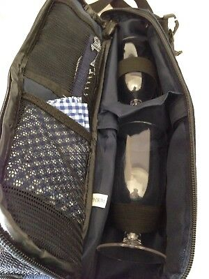Wine Cooler Carry Bag 2 Glasses Wine Opener