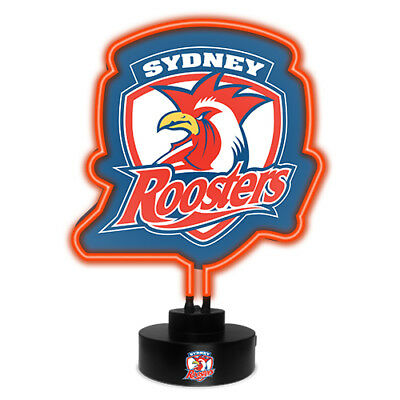 Sydney Roosters NRL NEON Sign Light Sculpted Glass Lamp Man Cave Bar Gift