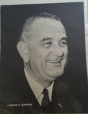 "1961 Lyndon B. Johnson POSTER 22"" X 30"" BLACK & WHITE"