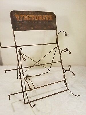 Vintage Victorite Gasket Company Packing Paper Store Display Stand - SWEET rust