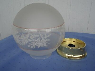 vintage victorian edwardian style glass light lamp shade antique style rose