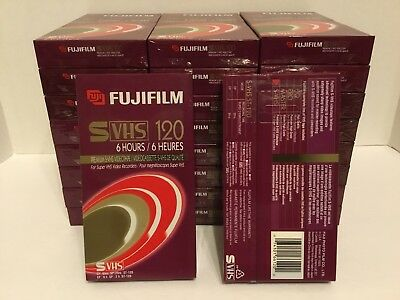 Lot of 26 FUJI S-VHS 120 Super VHS Tape SVHS BRAND NEW SEALED/ADAT recording.
