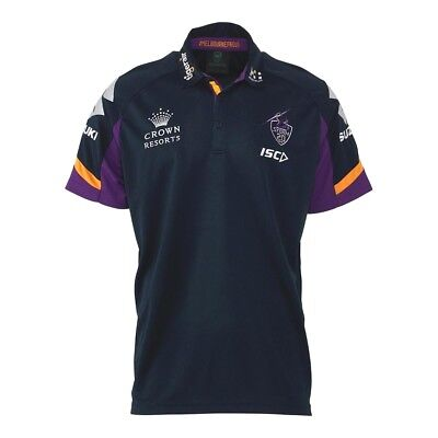 "Nrl Melbourne Storm ""isc"" Adults Players Polo - Brand New"