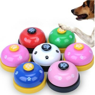 6 Colors Pet Dog Training Bell Meal Feeding Call Puppy Metal Potty Training UK