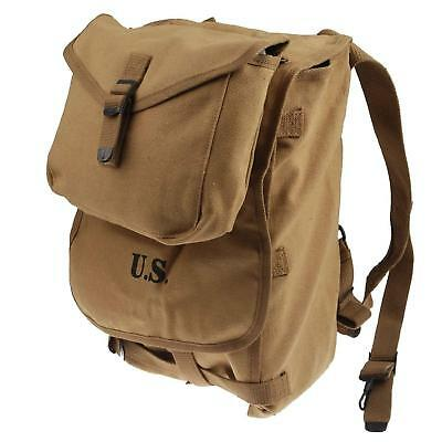 WWII US Army M1928 Haversack Musette Bag Backpack W Shoulder Strap US Stock