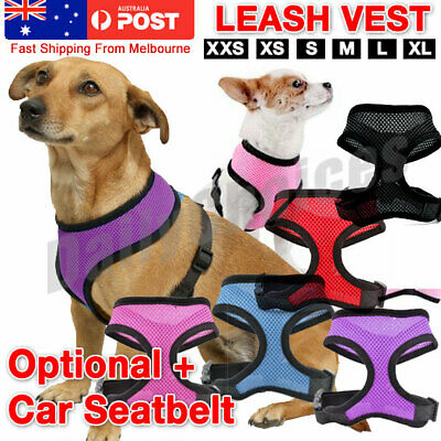 Adjustable Dog Harness Soft Mesh Padded Leash Vest Small-Extra Big Free Shipping