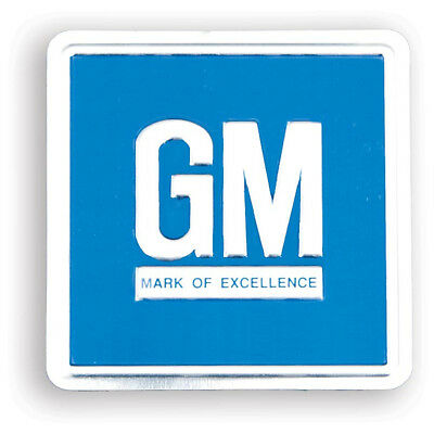 Camaro GM Door Mark Of Excellence Decal, Blue Embossed, O.E.Style, 1968-1974