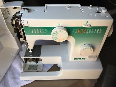 DRESSMAKER SEWING MACHINE WACCESSORIES Compact Portable Beginners Delectable White Sewing Machine 1632