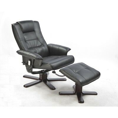 PU Leather Massage Chair Recliner Ottoman Lounge with Remote Control