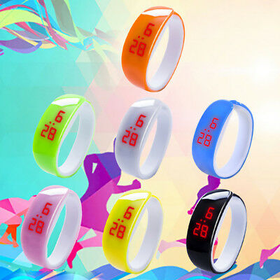 Fashion Women Men Sport Date Waterproof LED Plating Bracelet Digital Wrist Watch