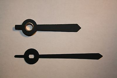 Black Baton 65/50mm Quartz Clock Hands for Hermle Euroshaft Repair/Parts