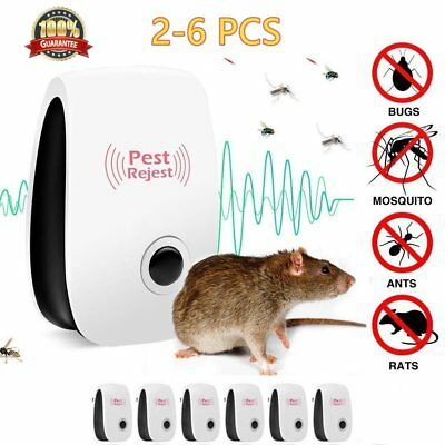 6x Electronic Ultrasonic Pest Reject Mosquito Mouse Killer Repeller Repellent MH