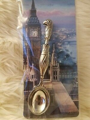 "Disney Parks Disneyland DCA Mary Poppins Umbrella Parrot Tea Sugar Spoon 4"" inch"