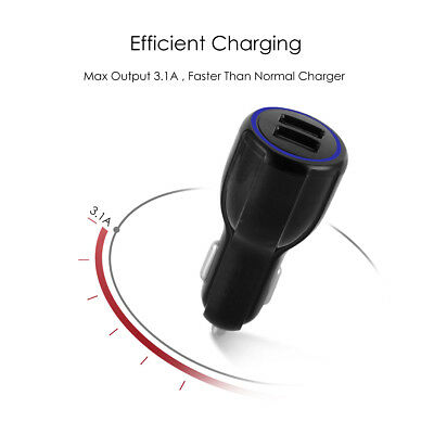 QC3.0 Certified Quick Charge Dual 2 USB Port QC3.0 Fast Car Charger 36W