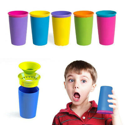 Safe Spill Free 360 Degree Drink Cup 9OZ Baby Training Cup Travel Set 6colors