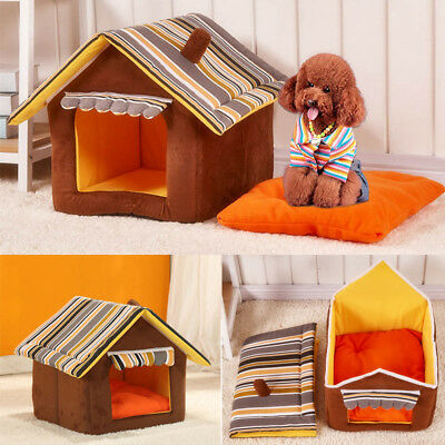 Warm Plush Igloo Bed For Pet Cat/Kitten Dog/Puppy House Kennel Doggy Snug Large