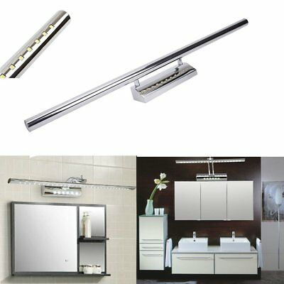 With Switch LED Stainless Steel Makeup Mirror Front Light Bathroom Wall Lamp 9W