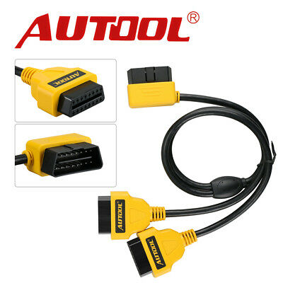 Autool OBDII OBD2 16 Pin Male Female Cable Diagnostic Extender Extention Cable