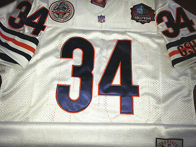 372812a8b BRAND NEW Chicago Bears  34 Walter Payton Throwback White Dual Patch Jersey  Mens