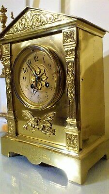 Antique French Ormolu Mantel Clock.