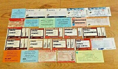 Welsh Club Used Rugby Tickets 1976 - 2012