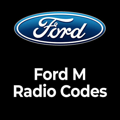 Ford Car Radio Code M Series Unlock Security Code Service Just 99p Fast Unlocks