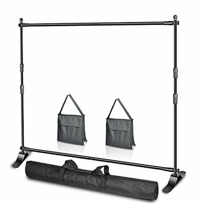 Emart 10 x 8ft W X H Photo Backdrop Banner Stand Heavy Duty - Adjustable Tube