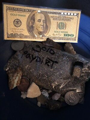 Guaranteed .500 Grams Of Gold And Gem Rich 3/4lb + Of Unsearched Paydirt, More