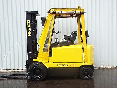 HYSTER J2.00XMT. 3330mm LIFT USED ELECTRIC FORKLIFT TRUCK. (#2137)