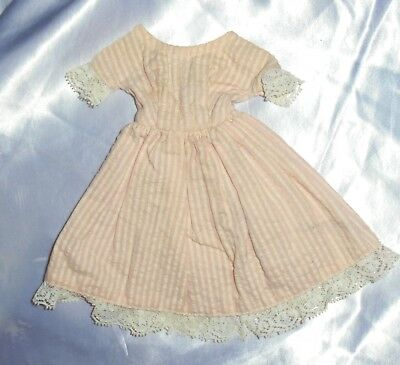 Vintage 50s Pink Stripe Doll Dress ~Ginny Vogue Muffie Ginger Alex?