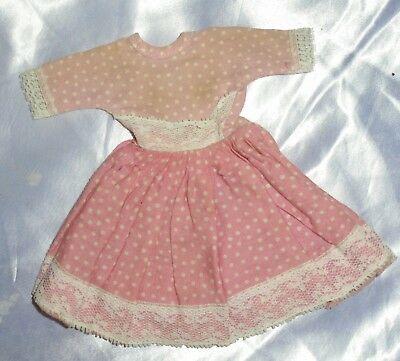 Vintage 50s Pink Polka Dot Doll Dress ~Ginny Vogue Muffie Ginger Alex?