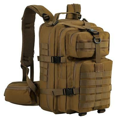 40f654fb27fd7 Military Tactical Backpack Assault Pack Army Molle Bug Out Bag Sport Bag Tan