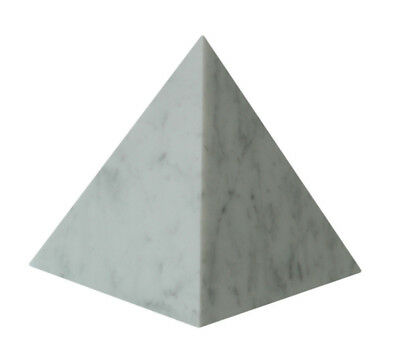 Pirámide Mármol Blanco Carrara Pyramid Escultura Arte and Craft 25cm