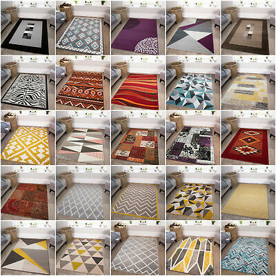Modern Soft Quality Rugs Small Large Cheap Mats Free Postage Rug Black Friday UK