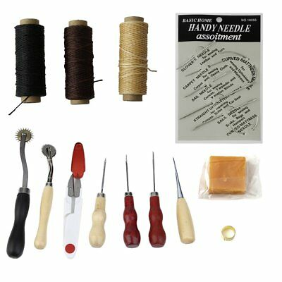 Multifunctional 14pcs/set Handmade Leather Craft Hand Stitching Sewing Tool R@